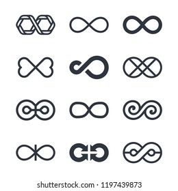 Infinity vector symbols and logo design graphics