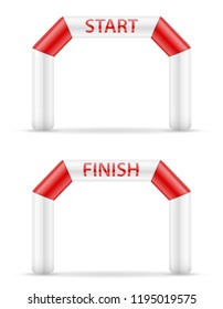 inflatable line start finish for sport vector illustration vector illustration isolated on white background