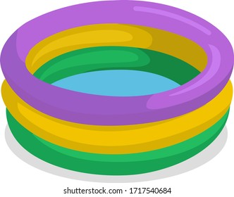 Inflatable pool, illustration, vector on white background