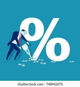 Inflation concept vector illustration.