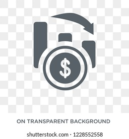 Inflation icon. Trendy flat vector Inflation icon on transparent background from Business  collection.