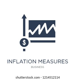 Inflation measures icon. Trendy flat vector Inflation measures icon on white background from Business collection, vector illustration can be use for web and mobile, eps10