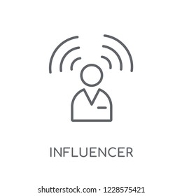 Influencer linear icon. Modern outline Influencer logo concept on white background from Technology collection. Suitable for use on web apps, mobile apps and print media.