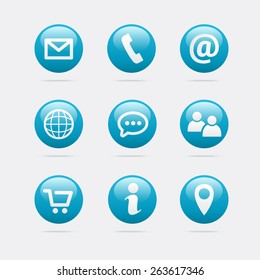 Info & Contact Icons