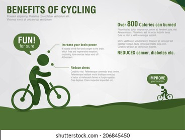 Benefits Of Cycling Stock Illustrations, Images & Vectors