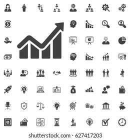 Info graphic. Chart icon. Growing graph symbol. vector illustration on white background. Business set of icons