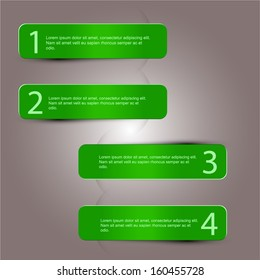 info graphic green four options template