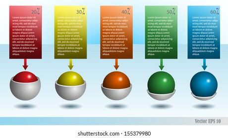 Info graphic template box design