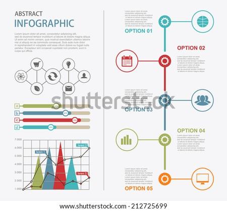 info graphic timeline design elements presentation のベクター画像