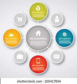 info graphics - colorful graph, circle
