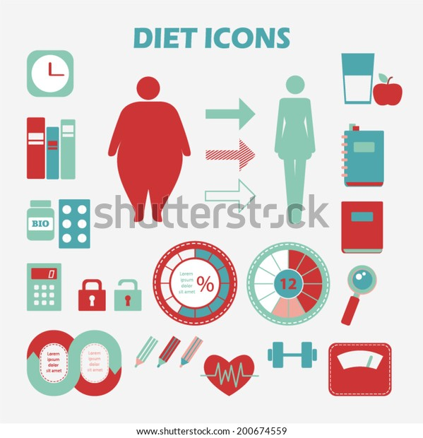 Info graphics health diet. Healthy lifestyle concept