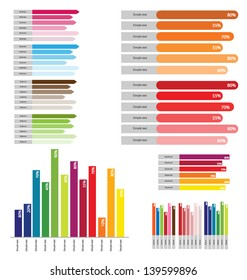 Info graphics set. graph vector illustration.