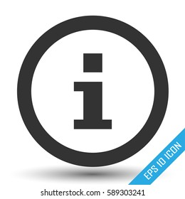 Info icon. Info sign. Simple flat logo of info sign in circle . Vector illustration on white background.