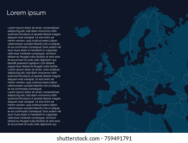 Info map of europe
