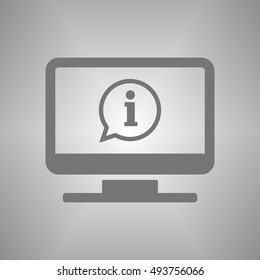 Info speech bubble symbol icon,vector. Flat design.
