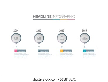 Infograph template. Timeline info graphic vector can be used for workflow layout, diagram,presentation, education or any number option.