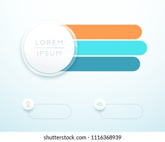 Infographic 3 Step 3d Circle Banner List Template