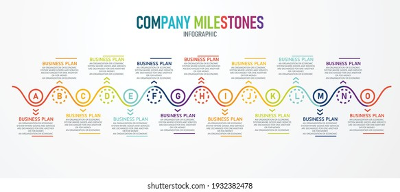 Infographic with 9 elements project plan start step design template flat infographic vector illustration for presentation progress bar report.