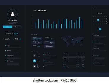 Infographic Application UI UX Vector