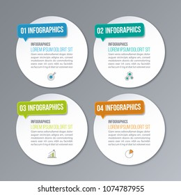 Infographic banner template. Creative concept with 4 options.