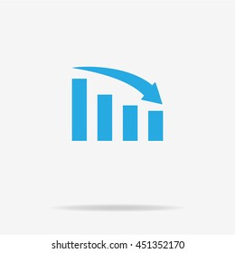 Infographic bar chart icon. Vector concept illustration for design.