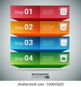 Infographic Blocks Design Elements