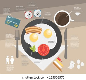 infographic. breakfast