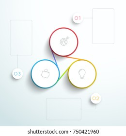 Infographic Business Connected 3 Set Cycle Design