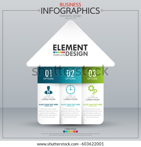 infographic business horizontal timeline process chart stock vector