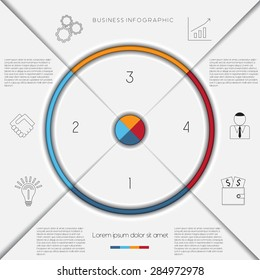 Infographic business process workflow template text stock vector infographic business process or workflow template with text areas on 4 positions cheaphphosting Choice Image