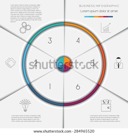 Infographic business process workflow template text stock vector infographic business process or workflow template with text areas on 6 positions accmission Gallery