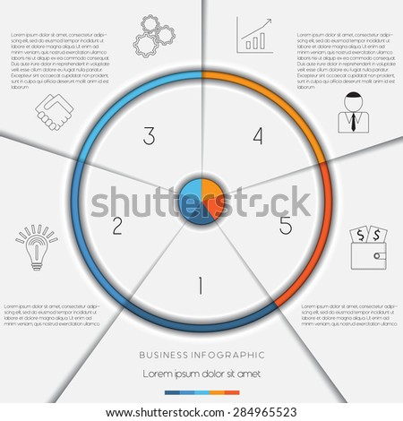 Infographic business process workflow template text stock vector infographic business process or workflow template with text areas on 5 positions accmission Gallery