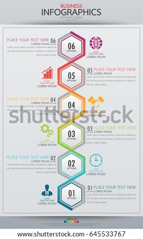 infographic business vertical timeline process chart stock vector