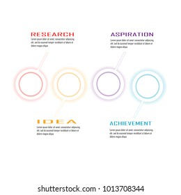 infographic chart data illustration template vector