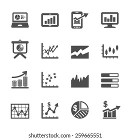 infographic and chart icon set 6, vector eps10.
