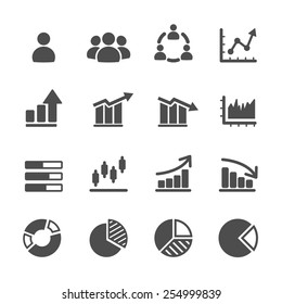 infographic and chart icon set, vector eps10.