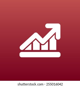 Infographic chart  vector icon vector graph market business