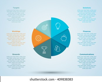 Infographic Circle With Business Icons In Segments