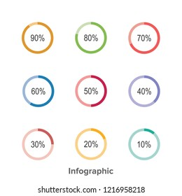 Infographic Circle Chart Can Using For Presentation