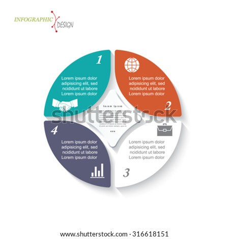 infographic circle template business project presentation の