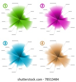infographic color diagram templates