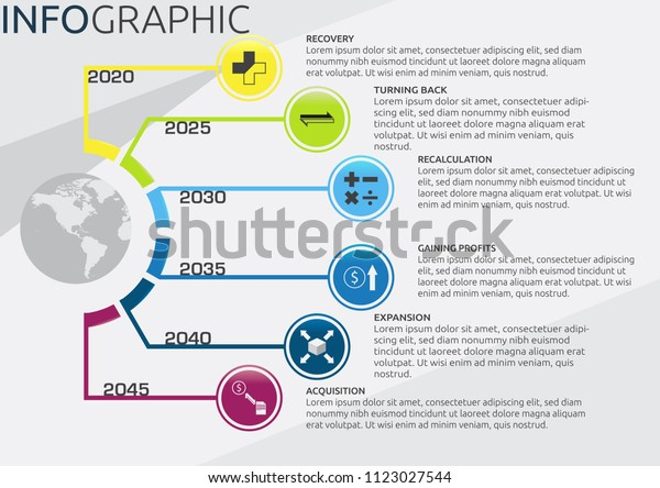 Infographic Companys Future Plans Timeline 6 Stock Vector