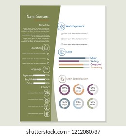 Infographic Resume Template | Infographic Cv Resume Template Design Vector Stock Vector Royalty