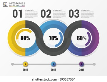 Infographic design with 3 options. Business concept. Vector illustration