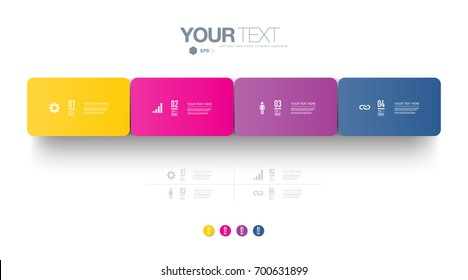 Infographic design 3d boxes on simple background with numbers and text  Eps 10 stock vector illustration