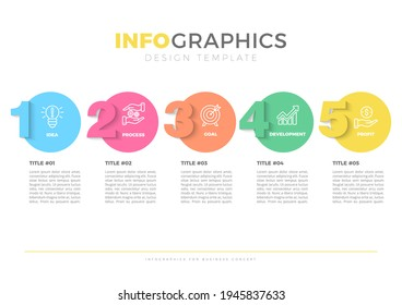 Infographic design with 5 options or steps. Infographics for business concept.