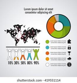 Infographic design. Data concept. Colorful illustration