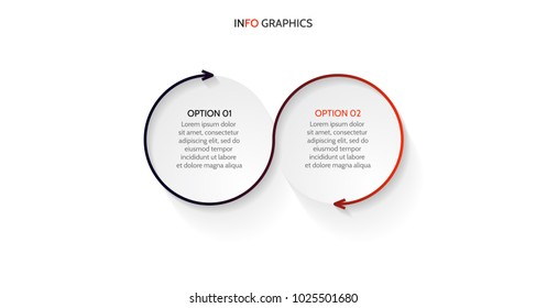 Infographic design elements.Business concept with 2 steps or options, layout.Vector eps10 illustration.
