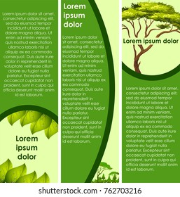 Infographic design with green tree  illustration