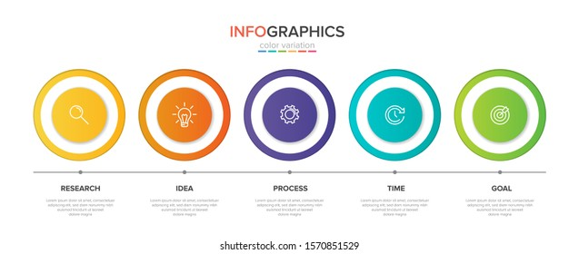 Infographic design with icons and 5 options or steps. Thin line vector. Infographics business concept.
